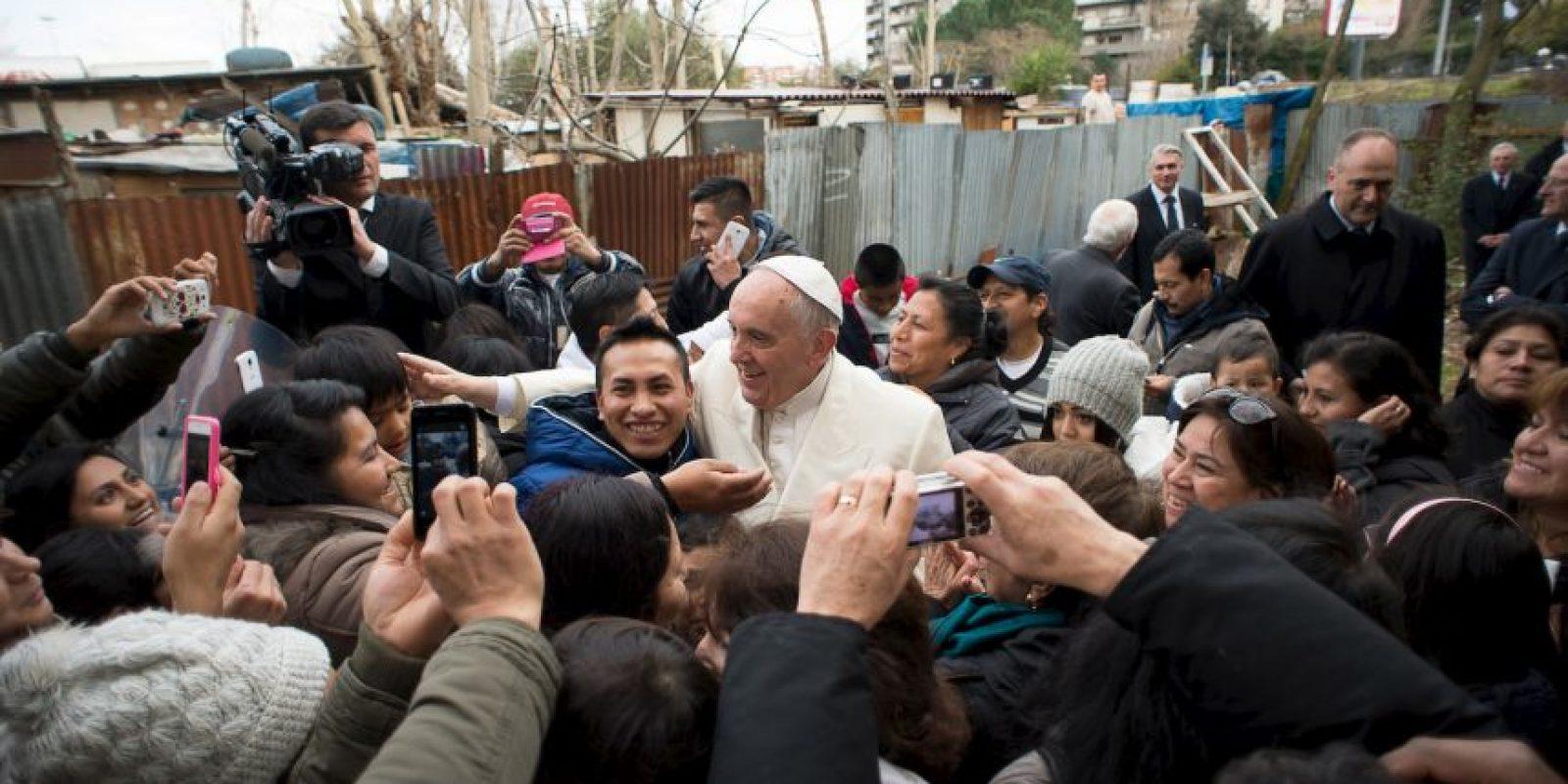 Ningún pontífice había hecho eso antes. Foto:AP