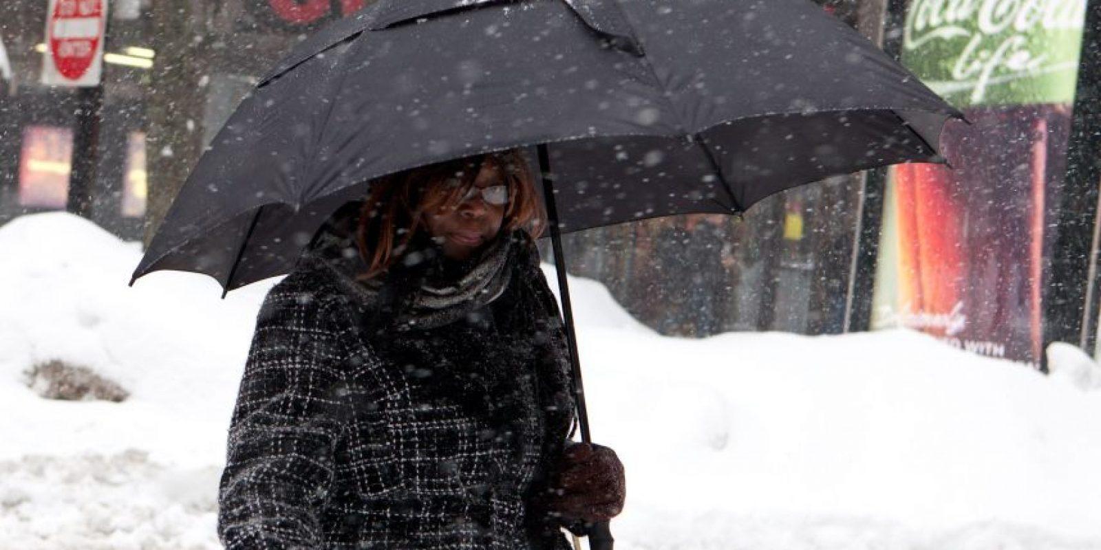 Más de un metro de nieve cayó sobre Boston entre el lunes y el martes. Foto:Getty