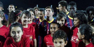 Los pequeños siguen mucho al jugador argentino. Foto:Getty Images