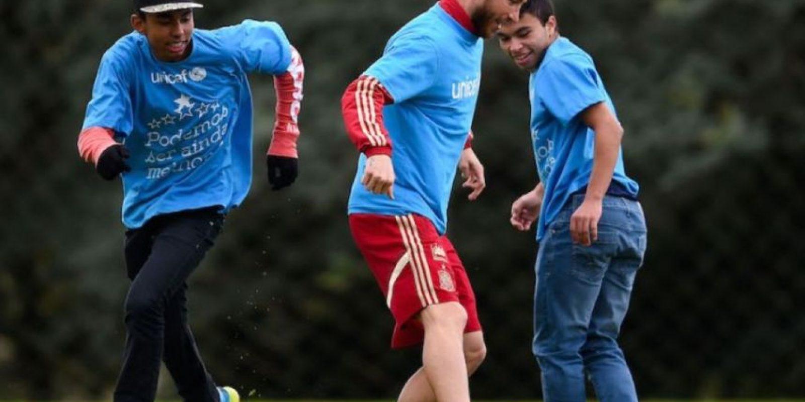 Sergio Ramos ha apoyado el trabajo de la UNICEF desde 2007. Foto:Getty Images