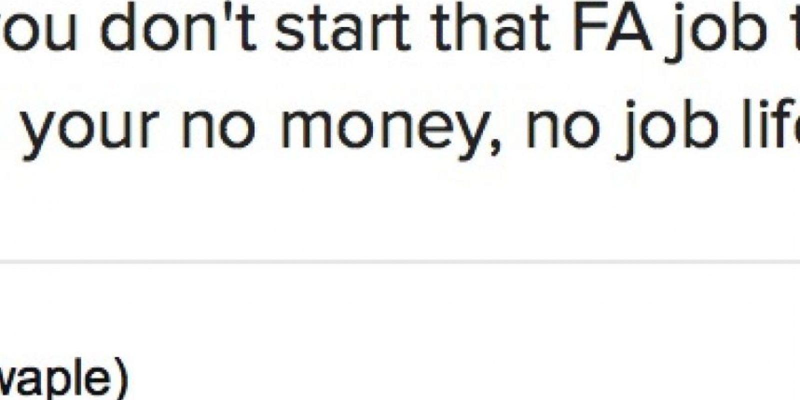 """Pero alguien de su trabajo le comentó todo a su jefe. Este la despidió por Twitter. """"Ten suerte sin dinero y sin trabajo"""", posteó. Foto:Twitter"""