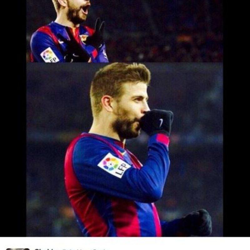 Shakira agradeció a Piqué su gesto. Foto:twitter.com/shakira