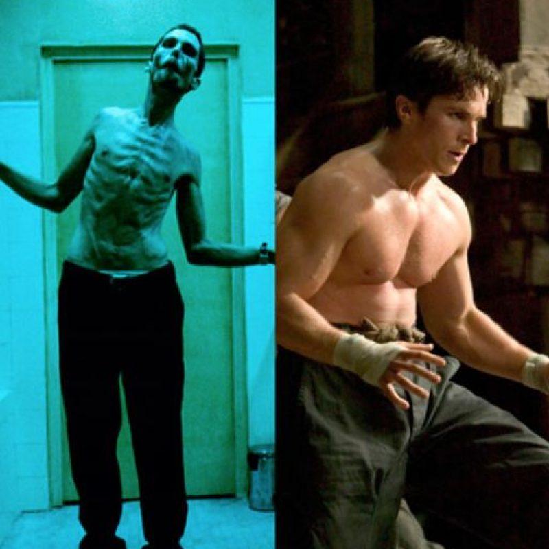 Christian Bale perdió casi 32 kg para su papel en The Machinist.