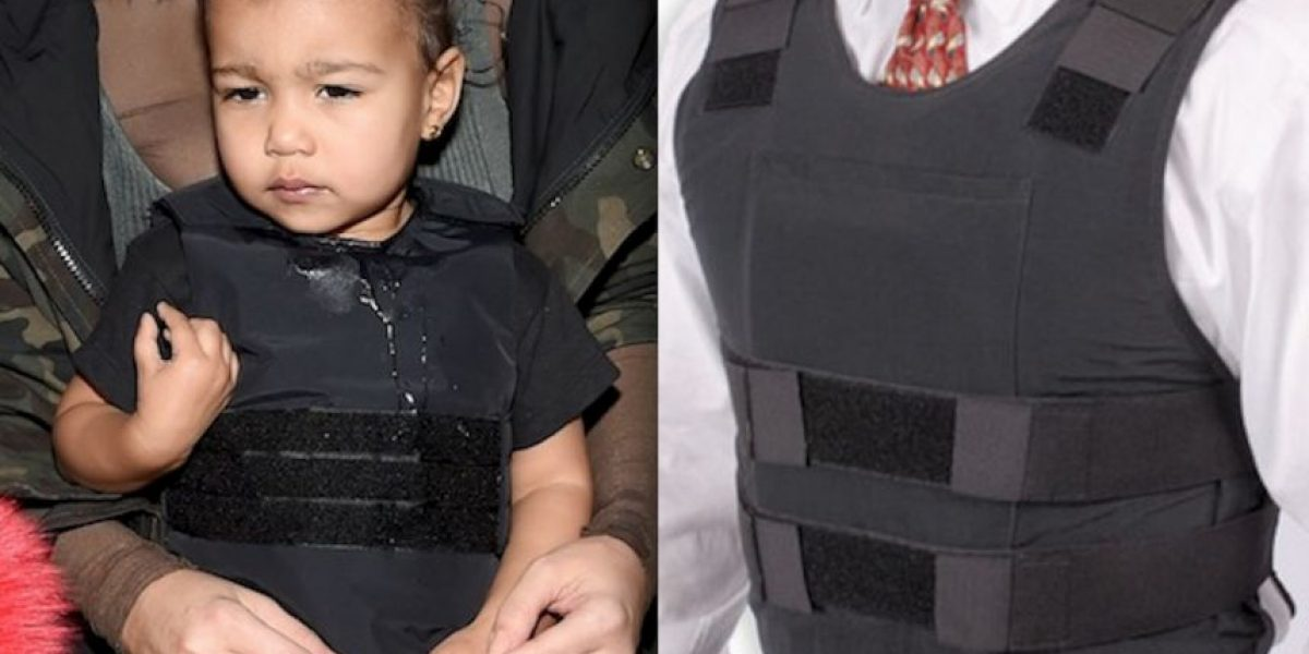 FOTOS: Kim Kardashian vistió a su hija con un chaleco antibalas