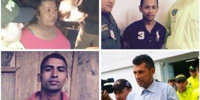 Luz Mila Artunduaga, Énderson Carrillo, José García y Cristopher Chávez Foto:Policía