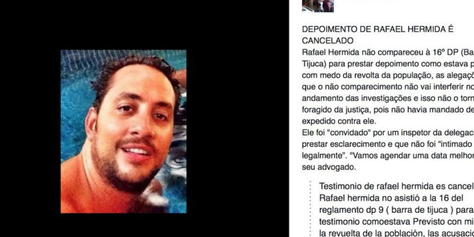 Lo denuncian por maltrato animal. Tenía cita con las autoridades y no apareció. Foto:Facebook