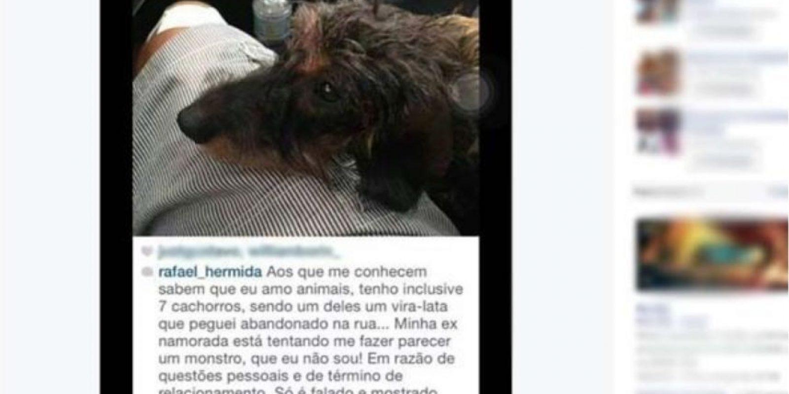 Dijo en un mensaje que tenía siete perros y que no los maltrataría. Foto:Instagram