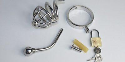 Una mujer llamó a emergencias después de que su marido no pudo quitarse un cinturón de castidad de titanio. Foto:es.aliexpress.com