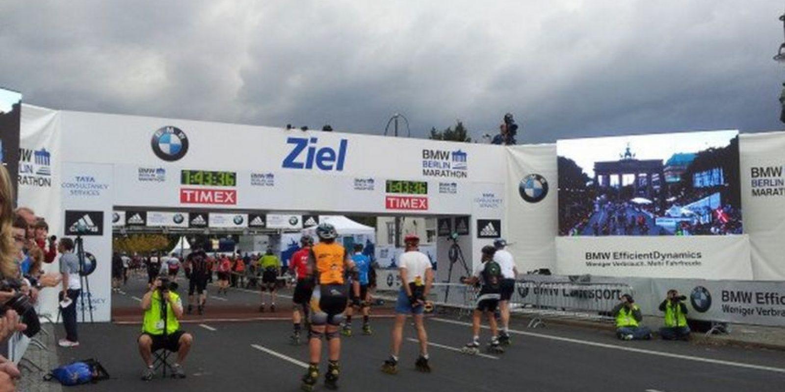 Maratón de Berlín Foto:Twitter: @berlinmarathonE