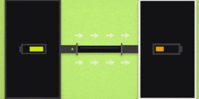 Un dispositivo con batería proporciona energía al que ya no tiene. Foto:Juicer