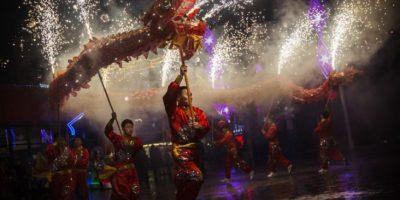 Festividad más importante de China donde millones de personas se desplazan para estar con sus familiares Foto:GETTY IMAGES