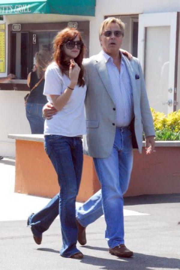 Con su papá Don Johnson. Junio 16 de 2007 Foto:Getty Images
