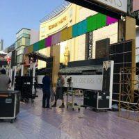 Los técnicos supervisan los últimos detalles previos a la cobertura del evento. Foto:Facebook/Dolby Theatre