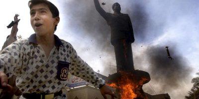 2003: 12 de abril, caída del régimen de Saddam Hussein Foto:Getty Images