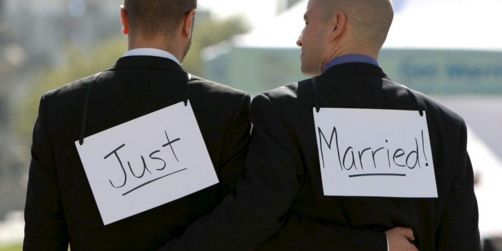 1. La ley de matrimonio igualitario se firmó en Reino Unido el 17 de julio de 2013. Foto:Getty