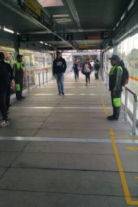 Estación Molinos cuyos vagones están en operación completa desde hoy, viernes 20 de febrero Foto:Transmilenio