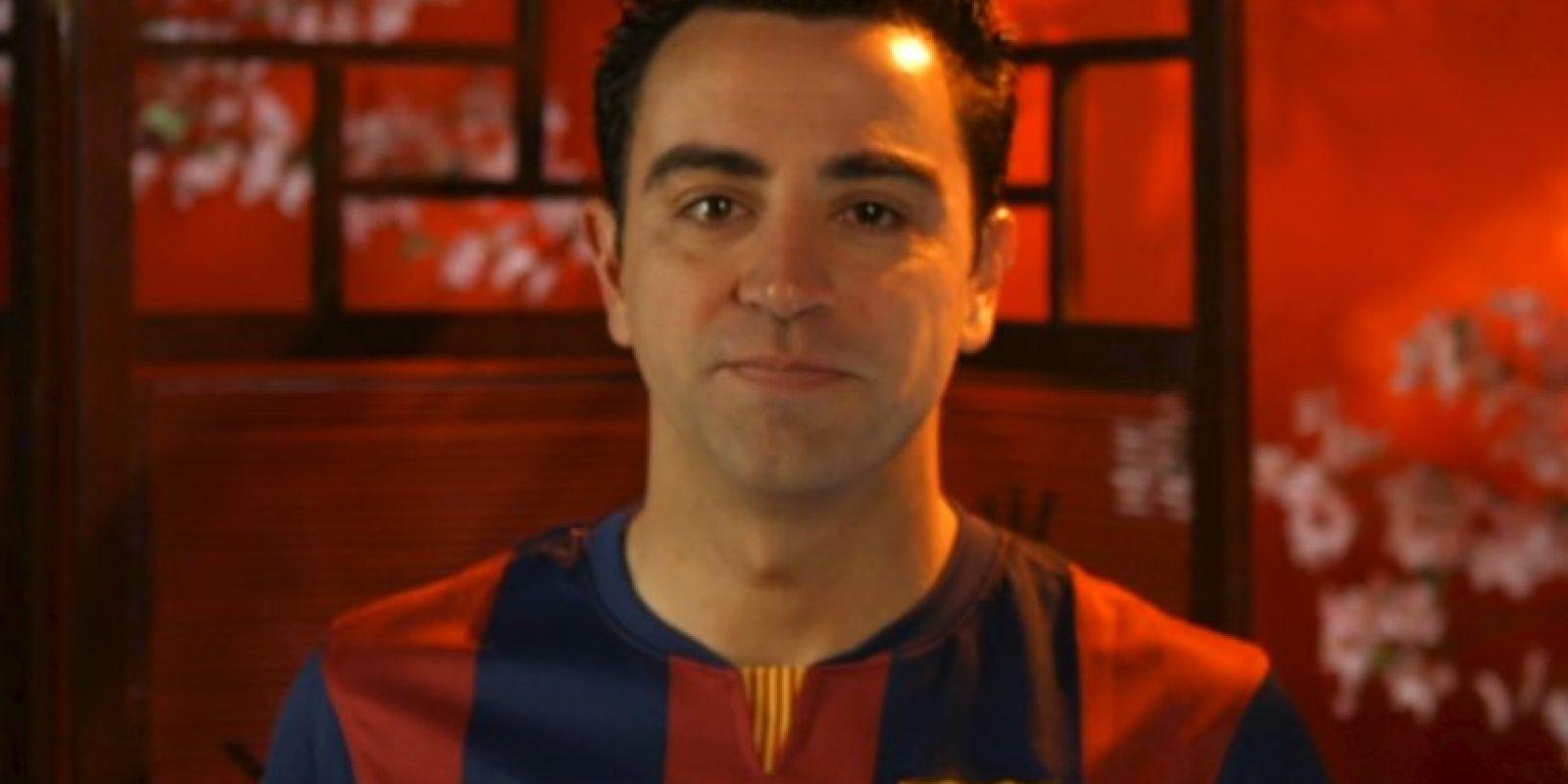 Xavi Hernández, futbolista español del Barcelona. Foto:Barcelona