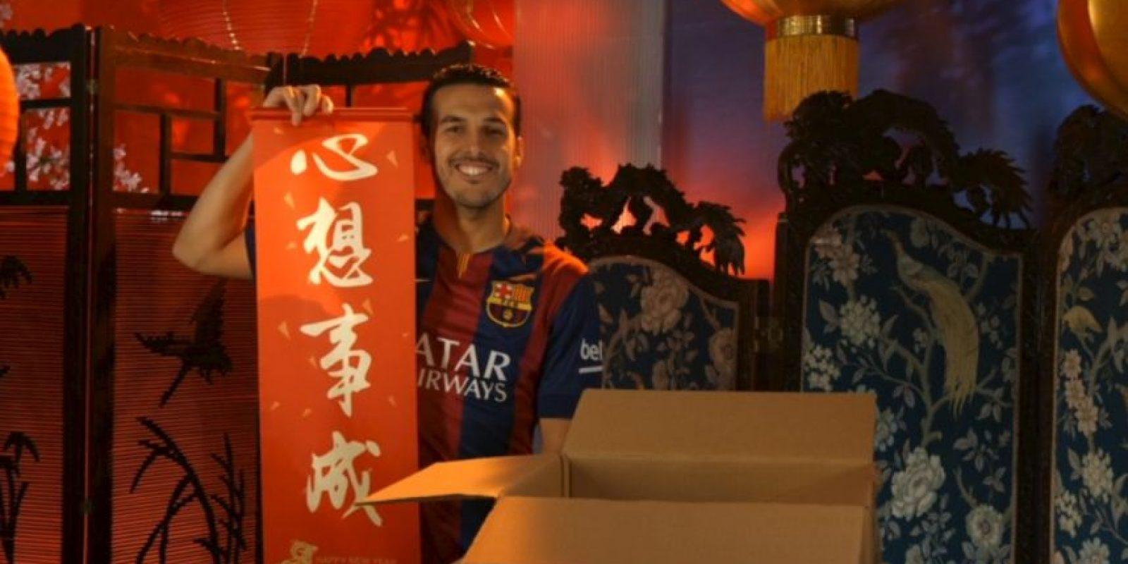 Pedro Rodríguez, futbolista español del Barcelona. Foto:Barcelona