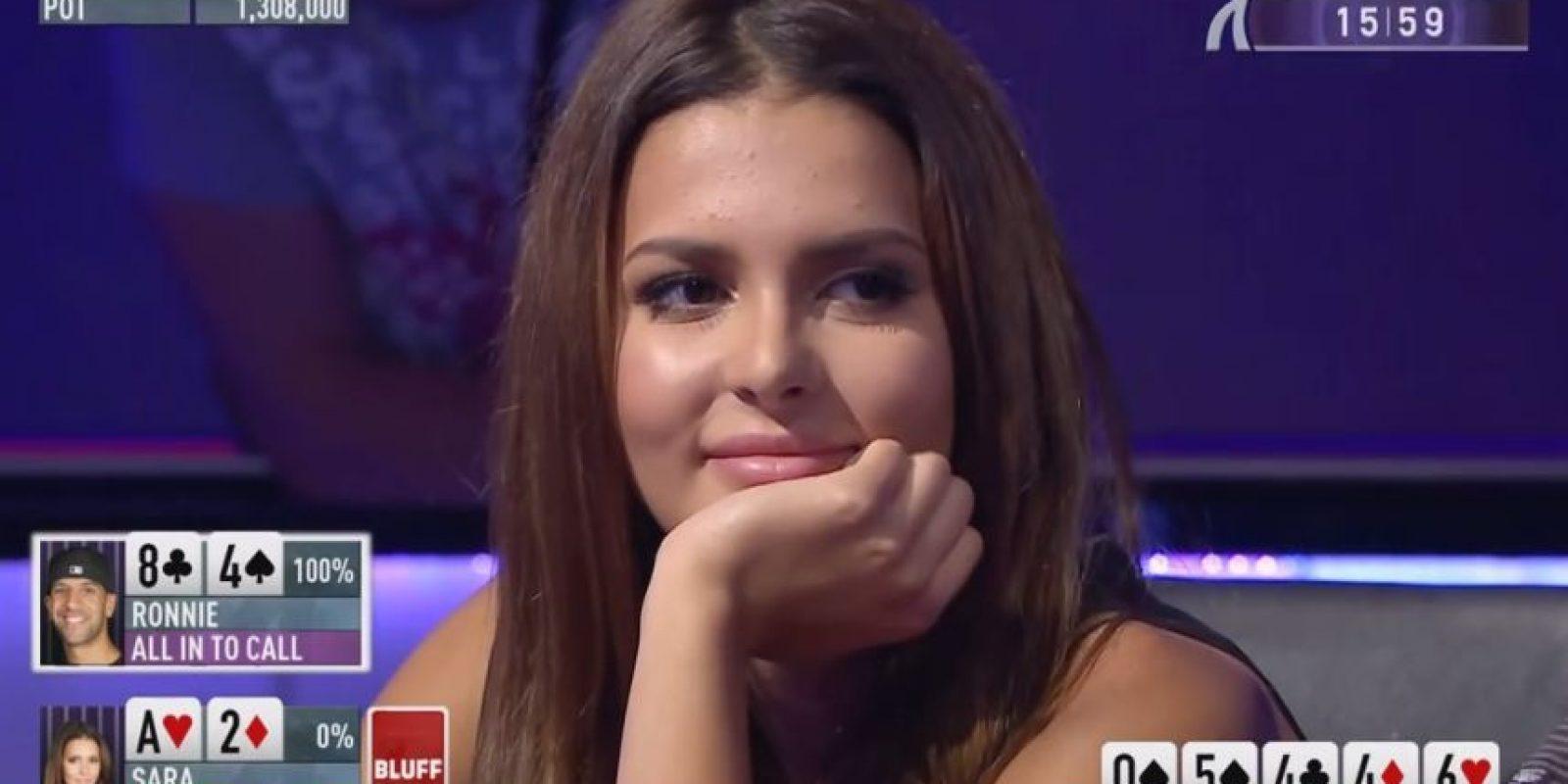 Ella apostó toda su bolsa y ganó la partida Foto:Youtube: PokerStarsMir