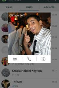 La opción para realizar llamadas o mandar mensajes. Foto:Android Police