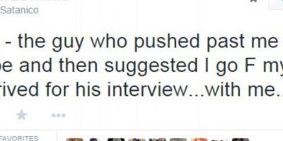 Este entrevistó al mismo hombre y obviamente no lo contrató. Le recordó el incidente en seguida. Foto:Twitter
