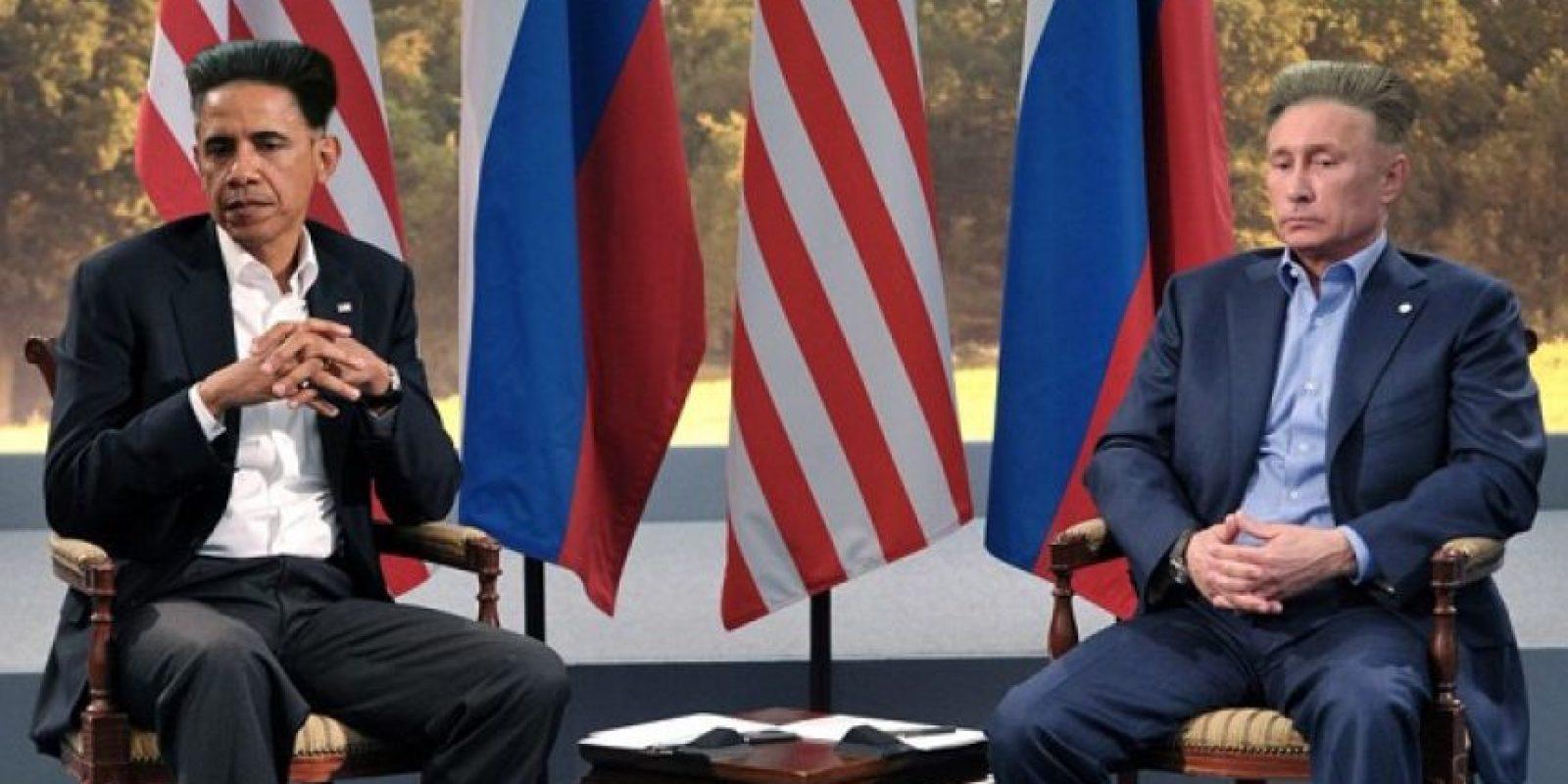 Barack Obama y Vladimir Putin Foto:Reddit