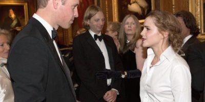 El año pasado, Watson conoció al hermano de Harry, el príncipe William. Foto:Getty Images