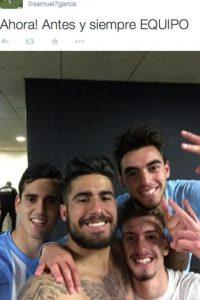 Selfie después del triunfo. Foto:twitter.com/samuel7garcia