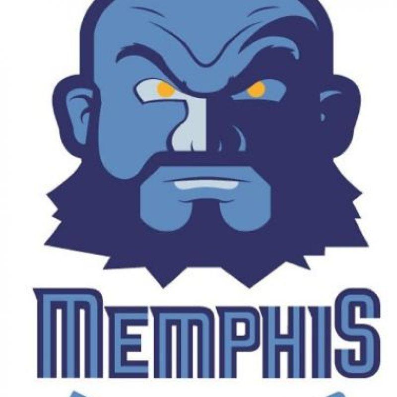 """Zangief"" de ""Street Fighter II"" en el logo de Memphis Grizzlies. Foto:instagram.com/ak47_studios"