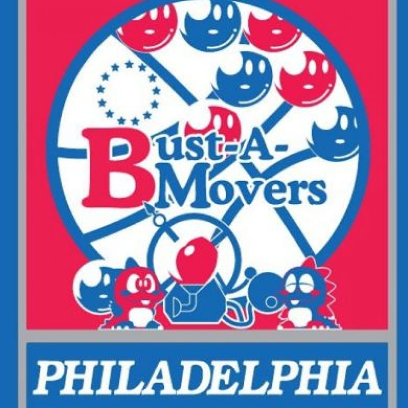 """Busta a Grove"" en el logo de Philadelphia 76ers. Foto:instagram.com/ak47_studios"