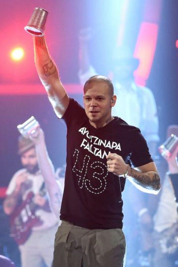 """René de Calle 13 aseguró que fue censurado durante la premiación del Grammy Latino 2014. El cantante puertorriqueño declaró: """"Me pidieron que no hablara de Ayotzinapa"""". El músico agregó que """"parece que lo sospechaban. Creo que es una irresponsabilidad que me hayan dicho eso"""" Foto:Getty Images"""