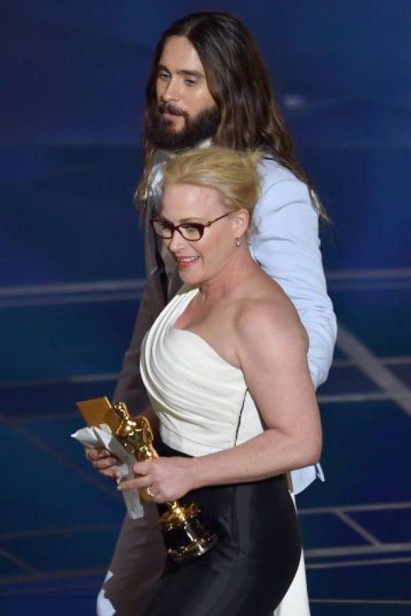 Patricia Arquette durante su discurso en los Oscar Foto:Getty Images