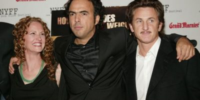 Alejandro González Iñárritu y Sean Penn. Foto:Getty Images