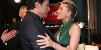 John Travolta y Scarlett Johansson Foto:Getty Images