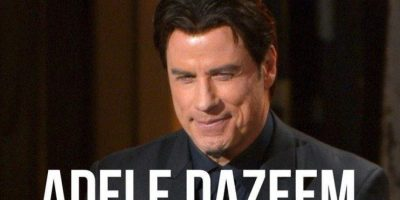 """El actor olvidó el nombre de la intérprete de """"Let it go"""" y la presentó como """"Adele Dazeem"""" Foto:Twitter"""