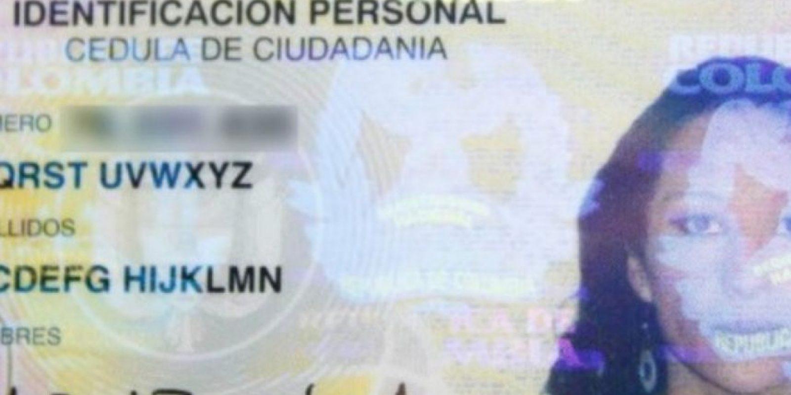 5. Colombiana se cambió el nombre por el del abecedario: Ladyzunga es una colombiana que tuvo que luchar por cambiar su nombre por el del abecedario. Es una artista visual y DJ que quería un nombre contundente. Foto:Registraduría Civil Colombia