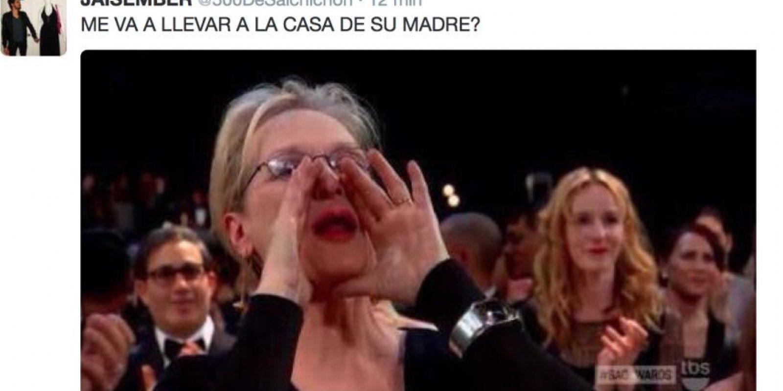 El grito de apoyo de Meryl Streep hacia Patricia Arquette se convirtió en un meme que ha generado las más ingeniosas ocurrencias Foto:Twitter