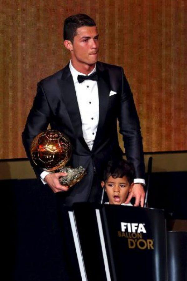 Padre e hijo en el Balón de Oro. Foto:Getty Images