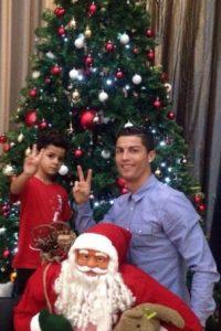 Antes de Navidad con Papá Noel. Foto:instagram.com/cristiano