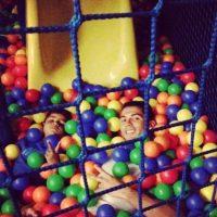 La alberca de pelotas. Foto:instagram.com/cristiano