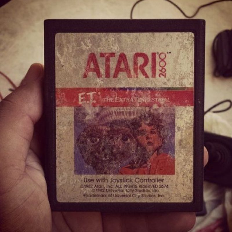 El cartucho del juego de E.T Foto:instagram.com/kaiobmachado