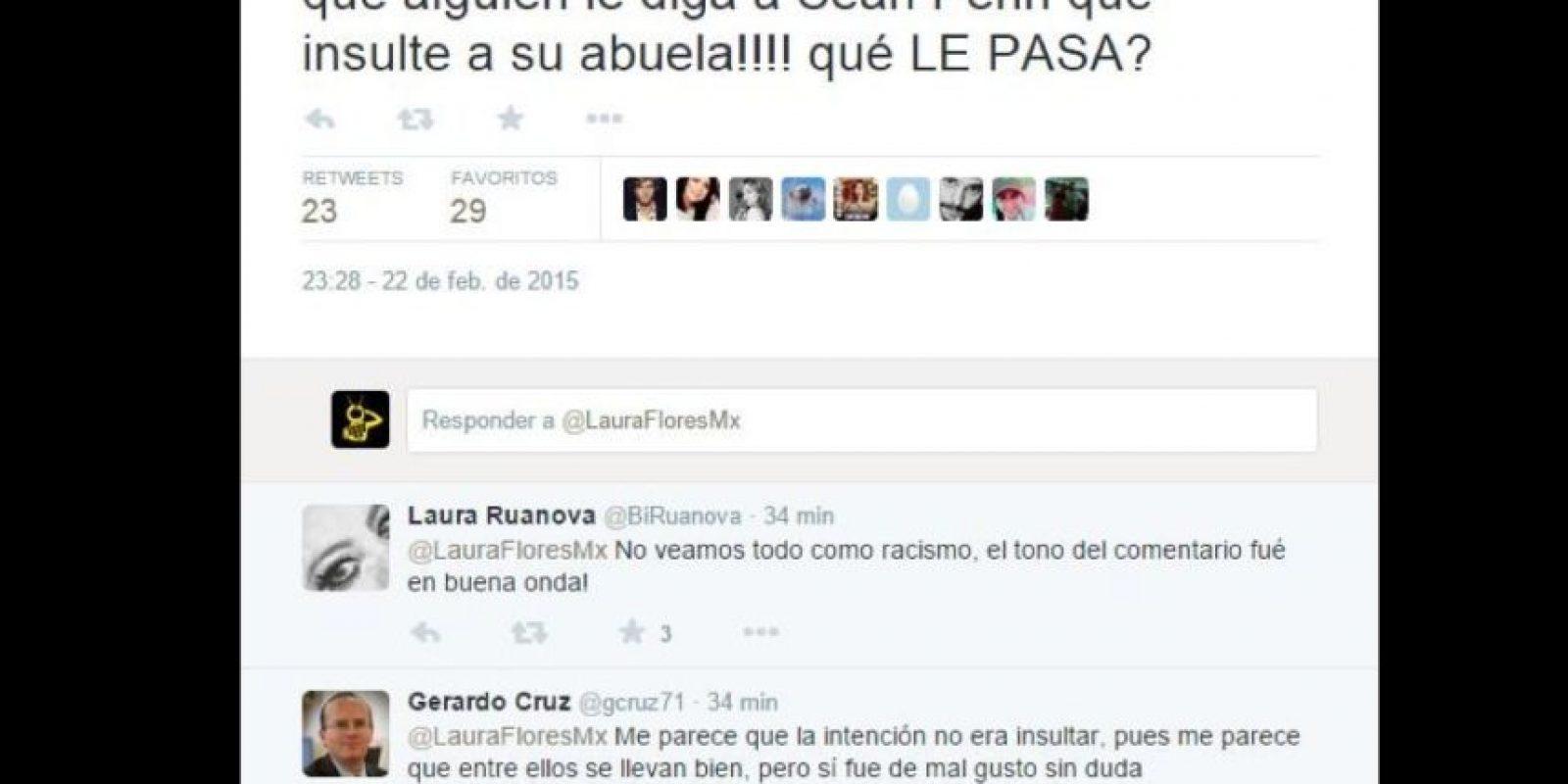 Sean Penn hizo una broma a su amigo, el director Alejandro González Iñárritu, con respecto a su estatus migratorio. Y Twitter no lo perdonó. Foto:Twitter