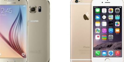 Comparamos al Samsung Galaxy S6 frente al iPhone 6. Foto: Samsung / Apple