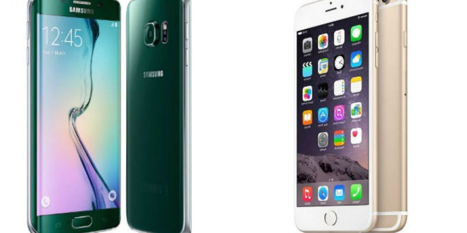 Samsung Galaxy S6 Edge quiere pelear el reinado del iPhone 6 Plus. Foto: Samsung / Apple