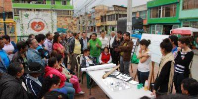 Habitantes y colectivo Arquitectura Expandida Foto:Cortesía Archivo El Tr3bol