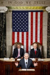 1. El primer ministro israelí se presentó ante el Senado y la Cámara de representantes estadounidense. Foto:AP