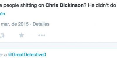 Para algunos Dickinson no hizo nada malo Foto:Twitter