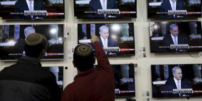 3. El discurso se da a solo dos semanas de las elecciones en Israel. Foto:AP