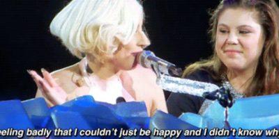 Lady Gaga confesó que era infeliz por ser quien era. Foto:Faith in Humanity Restored