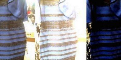 El famoso vestido azul y negro, que dividió al mundo por sus colores. Foto:Reproducción.